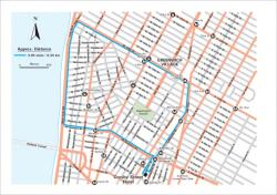 Crosby Hotel jogging map, New York