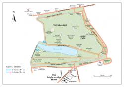 The Knightsbridge Hotel Hyde Park jogging map
