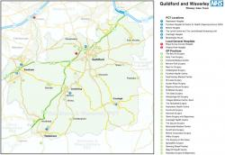Guildford & Waverley PCT map